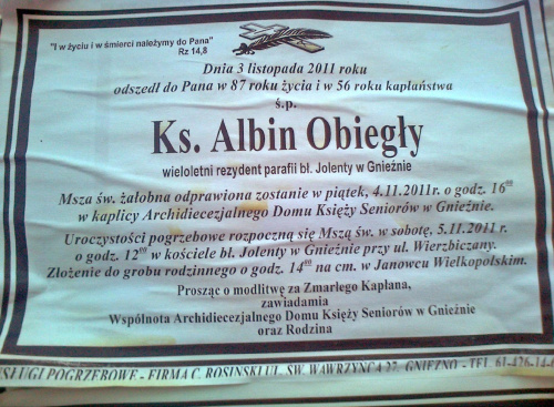 ks. Albin Obiegły