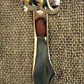 srebrny nożyk #bursztyn #imieniny #kobieta #prezent #róża #SrebrneSztućce #srebro #sztućce #upominek #urodziny