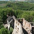 zamek Grodno,widok z wieży #Grodno #ruiny #zabytek #ZagórzeŚląskie #zamek