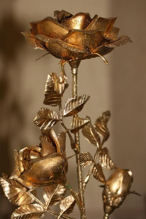 Złota róża - prezent #MartwaNatura