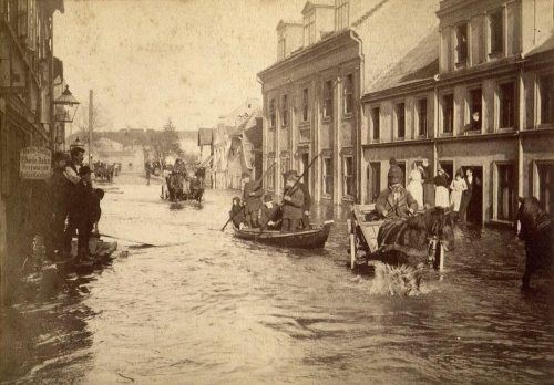 Powódz Poznań 1888 rok 1888 - Chwaliszewo 01