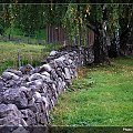 #Hamar #Norwegia #widok #droga #kamienie #mur