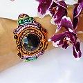 bransoletka #biżuteria #bransoletka #Soutache #Sutasz #kolorowa #pomarańczowa