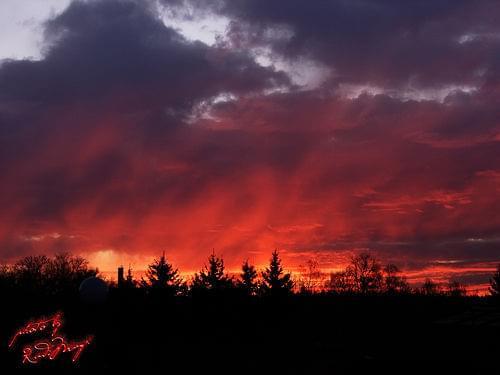 niebo płonie #niebo #zachód #słońce