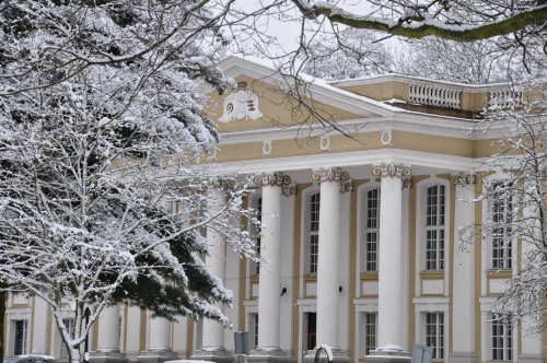 Pałac w Wolsztynie zimową porą #zima