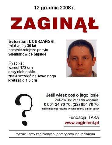 #PLAKATZITAKA #Zaginął #apel #pomóż #SebastianDobrzański #SiemianowiceŚląskie #śląskie