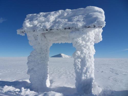 Śniezka inaczej :) #góry #karkonosze #szadż #śnieżka #zima