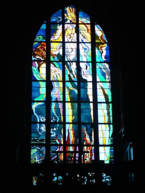 Witraż Bóg Ojciec z kościoła franciszkanów w Krakowie, zaprojektowany przez Stanisława Wyspiańskiego #witraż #kościół #Kraków