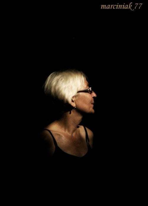 Magia ciemności.... #kobieta #portret