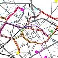 Przebieg linii tramwajowych w Białymstoku wdl. PRLowskiego projektu #tramwaje #białystok #prl