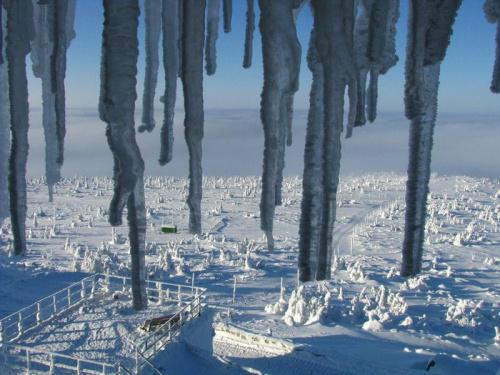 Widok ze Szrenicy_3 #Karkonosze #góry #zima #śnieg #Szrenica