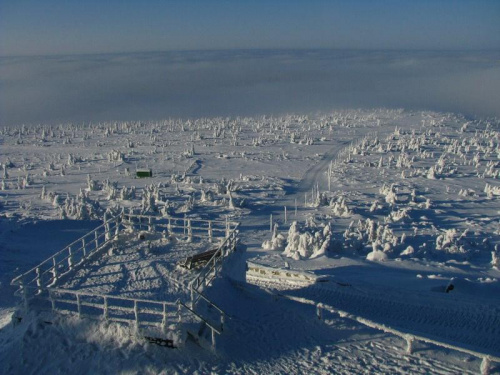 Widok ze Szrenicy_2 #Karkonosze #góry #zima #śnieg #Szrenica