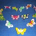Motylki może i na WALENTYNKI ;D #wielkanoc #KoszulkiNaJajka #motylki #rękodzieło #szydełko #OzdobySzydełkowe