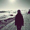 #słońce #światło #zima #śnieg #droga #przyroda