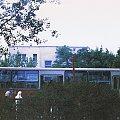 Ikarus 280.26, nr. tab. 2554, zakład: R-10 Ostrobramska, linia: C (obecnie 521), przystanek: Solidna 02, nośnik: papier mat, rok wykonania: 1991, ap. Smena 8M #autobus #Ikarus #lato #Ostrobramska #przystanek #Solidna #Warszawa #Widoczna #Nieciej