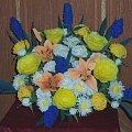 kwiaty z bibu�y na Dzie� Matki...