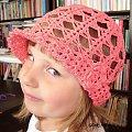Ada w nowym kapelusiki .... #czapeczka #szydełko